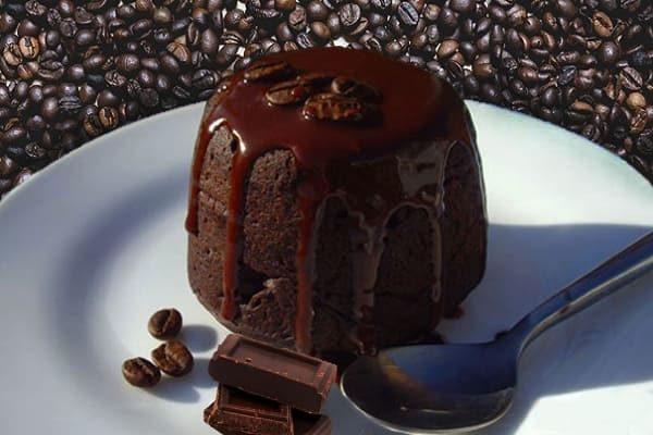 пышный шоколадный пудинг на пару
