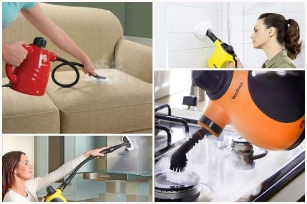 паровая уборка дома, уборка паром