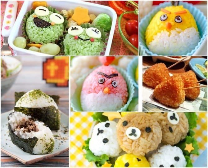 японские рисовые шарики онигири