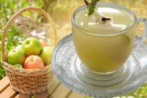 молочный кисель с яблоком