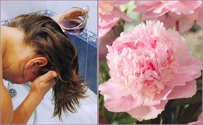 пион для волос, уход за волосами с пионом