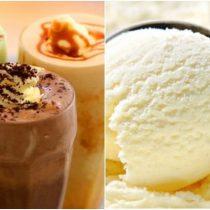 коктейли с мороженым, молочные коктейли