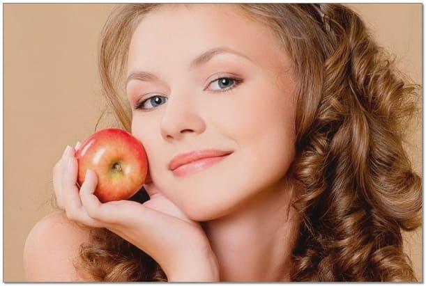 фрукты от прыщей, фруктовые маски, яблочная маска