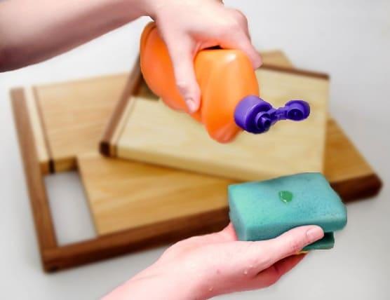 как мыть разделочные доски, чистка кухонной доски