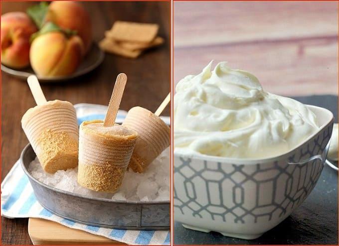 персиковое мороженое, домашнее мороженое, мороженое из персиков