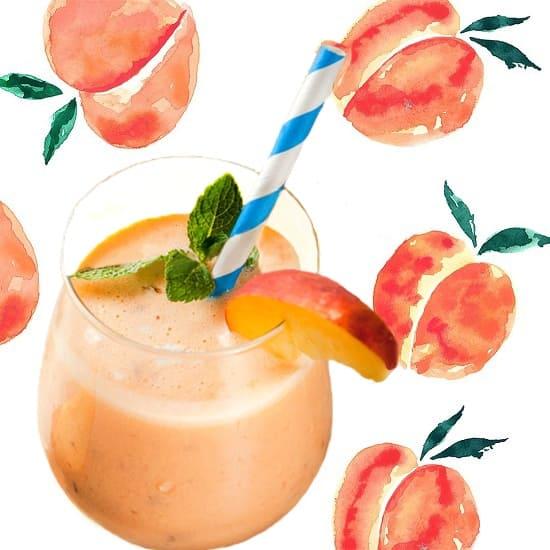персиковый коктейль, коктейль с персиком