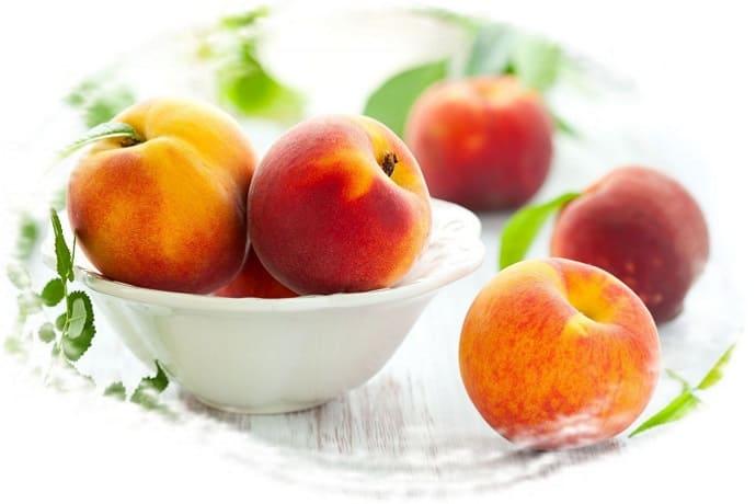 персики для мороженого, холодный десерт из персиков