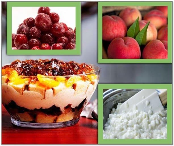 десерты с персиками, летние десерты, фруктовые десерты