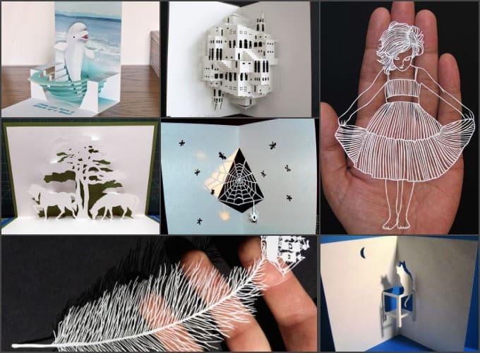 креативные хобби, творчество с бумагой, киригами