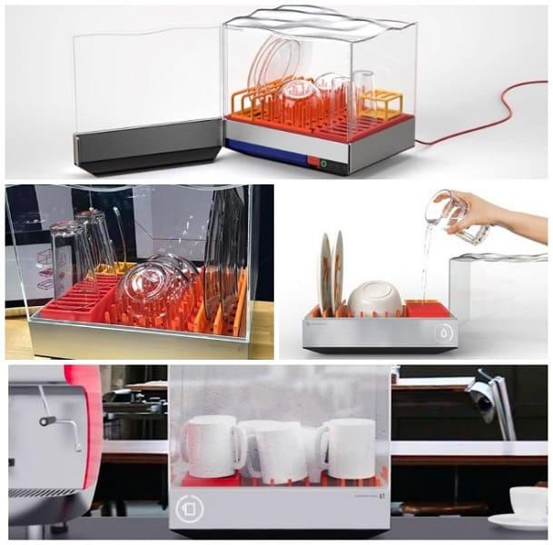 самая маленькая посудомоечная машина, необычная техника