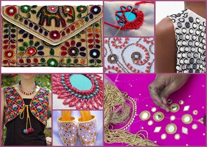 индийская вышивка шиша