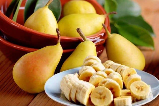 десерт с грушами и бананами, грушевый пудинг