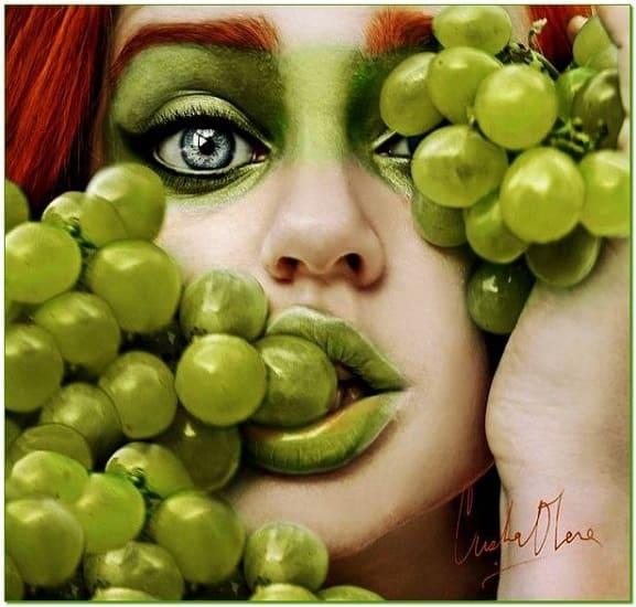виноград для красоты, виноград в уходе за лицом