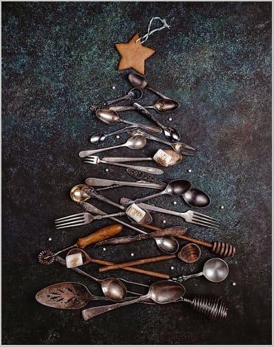 креативная елка, кухонная елка