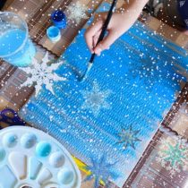 зимнее рисование с детьми, зимнее творчество