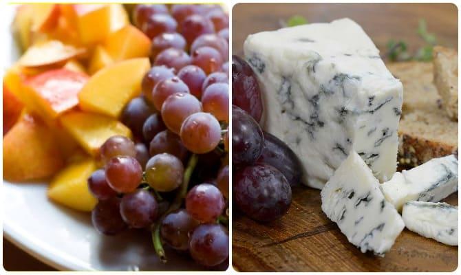 легкие диетические салаты, салаты с виноградом