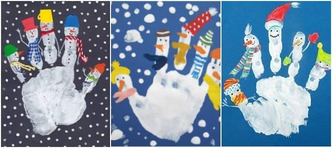 идеи зимнего рисования для детей, рисуем с детьми