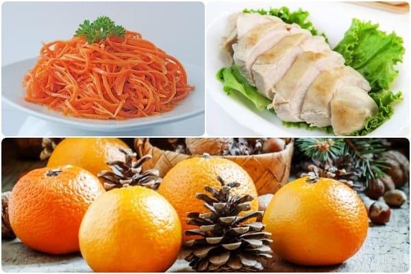 праздничный салат с апельсином