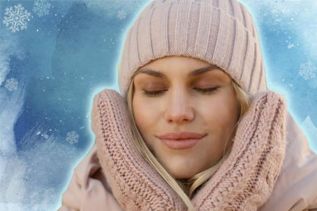 защита кожи от мороза, уход за лицом зимой