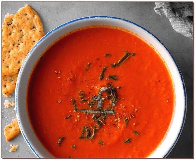 малокалорийный томатный суп, диетический суп