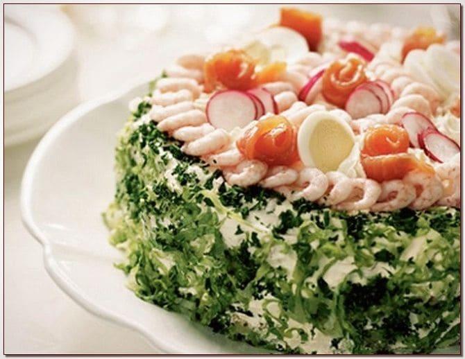 торт-салат, салат на 8 марта