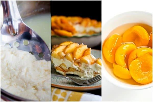 десерт с консервированными сладкими персиками
