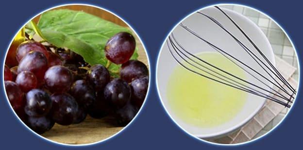 маска из натуральных ингредиентов с виноградом