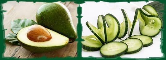маска из двух компонентов авокадо и огурец