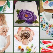 рисунки на футболке акриловыми красками
