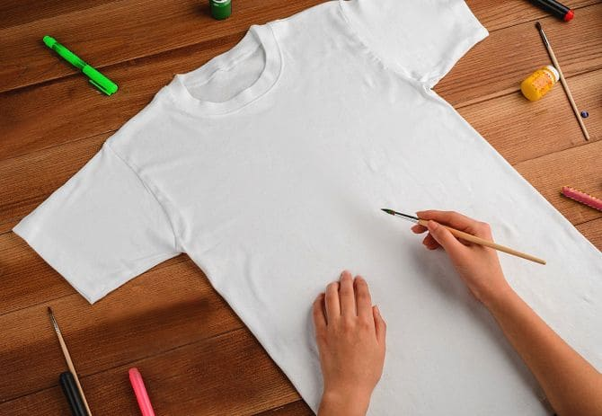 нанесение рисунка на футболку