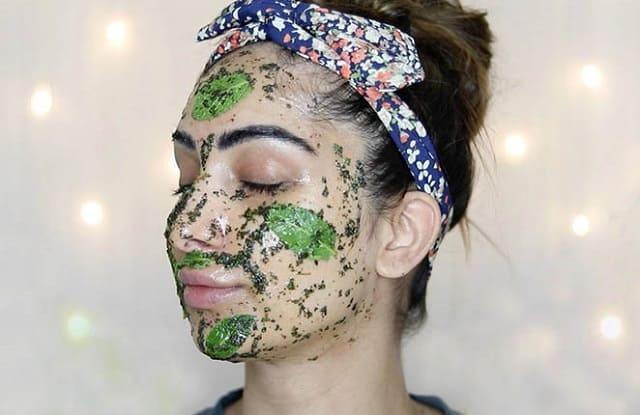 освежающая маска для лица с мятой