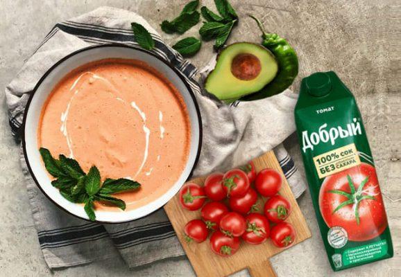 холодный суп на томатном соке