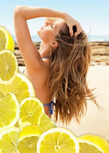 осветление волос лимоном