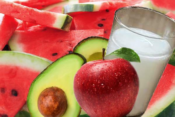 омоложение с арбузом и яблоком