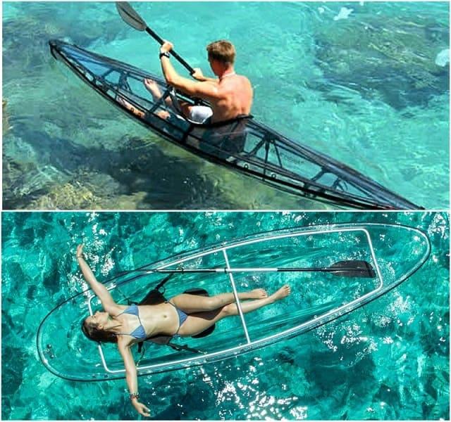 необычные лодки, прозрачные каноэ