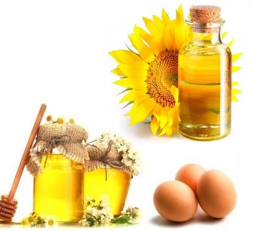 маска с подсолнечным маслом и мёдом для лица