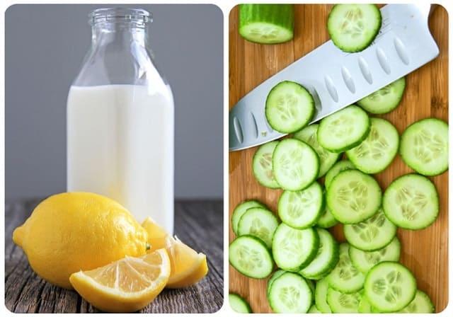 отбеливающий лосьон для лица с огурцом и лимоном