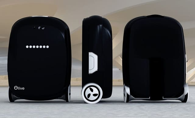 необычный передвигающийся чемодан