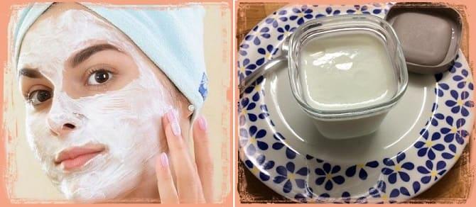 маска с йогуртом от пигментных пятен